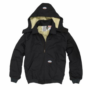 FR3507BK Flame Resistant Hooded Jacket