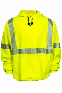 C21HC03C3 Flame Resistant High Visibility Hooded Sweatshirt
