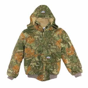 FR3504CC Rasco FR Camo Hooded Jacket with Quilt Lining