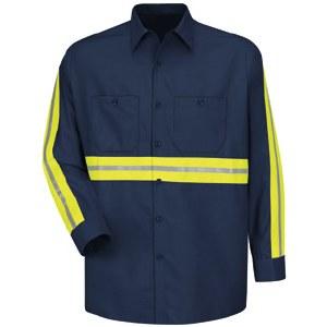 SC30EN Enhanced Visibility Cotton Work Shirt