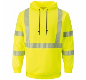 SMH4HV Hi-Vis Pullover Hooded Fleece Sweatshirt
