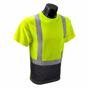 ST11B Hi-Viz Black Bottom T-Shirt with Max-Dri