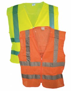 VEST4 5 Point, Class 2 Hi Vis, Zipper Front Mesh Vest