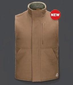 VLS2 FR Sherpa Lined Brown Duck Vest