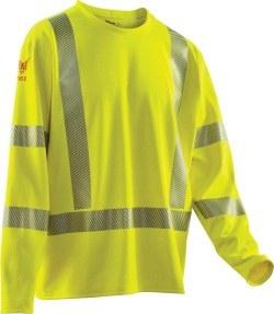 DF2-AX3-265ALS Hi-Vis Long Sleeve Flame Resistant Shirt