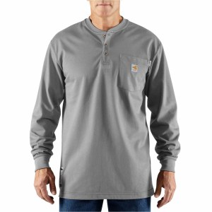 100237 Flame Resistant Long Sleeve Force Henley