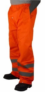 75-2352 Bright Orange 6XL High Visibility Rain Trouser