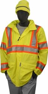 75-7301 Hi-Vis Yellow 6XL High Visibility DOT Rain Jacket