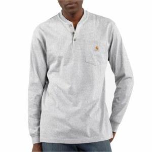 K128 Workwear Pocket Long Sleeve Henley