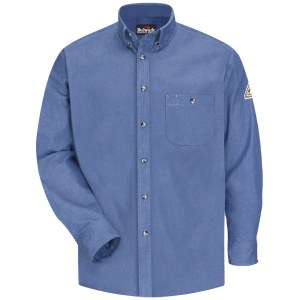 SEG2 Flame Resistant Denim Dress Shirt