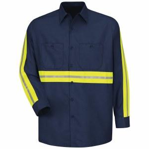 SP14EN Enhanced Visibility Industrial Work Shirt