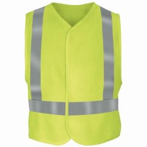VMV4 Yellow/Green L/XL Flame Resistant Hi-Vis Safety Vest