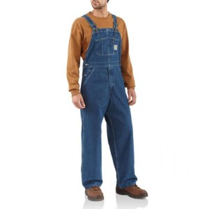 R07 Washed Denim Bib Overall Unlined