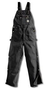 R37 Duck Zip-to-Thigh Unlined Bib Overalls