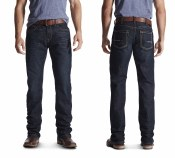 10016220 ARIAT REBAR M4 LOW RISE DURASTRETCH EDGE BOOT CUT JEAN