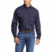 10019062 FR SOLID VENT SHIRT