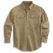 104138 Flame-Resistant Force Original Fit Lightweight Long-Sleeve Button Front Shirt