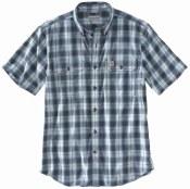 104175 Original Fit Midweight Short-Sleeve Button-Front Plaid Shirt