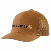 104192 Rugged Flex® Canvas Mesh-Back Fitted Logo Graphic Cap