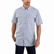 104258 Force Relaxed Fit Lightweight Short-Sleeve Button-Front Plaid Shirt