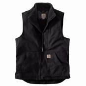 104277 Washed Duck Sherpa-Lined Mockneck Vest