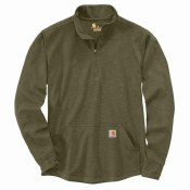 104428 Relaxed Fit Heavyweight Long-Sleeve Half-Zip Thermal Shirt