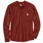 104429 Relaxed Fit Heavyweight Long-Sleeve Henley Pocket Thermal Shirt