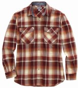104443 Rugged Flex® Relaxed Fit Lightweight Long-Sleeve Snap-Front Plaid Shirt