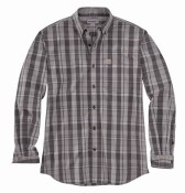 104444 Relaxed Fit Cotton Long-Sleeve Plaid Shirt