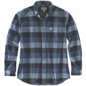 104448 Rugged Flex® Relaxed Fit Flannel Long-Sleeve Plaid Shirt