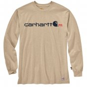 104769 FLAME RESISTANT FORCE ORIGINAL FIT MIDWEIGHT LONG-SLEEVE LOGO GRAPHIC T-SHIRT
