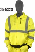 Majestic 75-5323 Hi-Vis Class 3 Hooded Sweatshirt