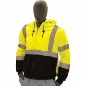 75-5331 Hi- Vis Zip Up Sweatshirt made with Teflon