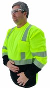 C3LBB Forester Hi Vis Black Bottom Reflective Safety Long Sleeve Shirt
