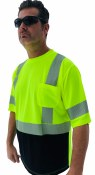 C3SBB Forester Hi Vis Black Bottom Reflective Safety Short Sleeve T-Shirt