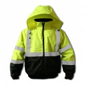 FORIBJ Hi-Vis Green Insulated Bomber Jacket