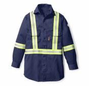 FR1403 FR Uniform Shirt with Reflective Trim
