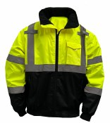 SB-J21 HI VIS BLACK BOTTOM JACKET WITH REMOVABLE LINER