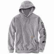 K288 Midweight Signature Sleeve Logo Hooded Sweatshirt