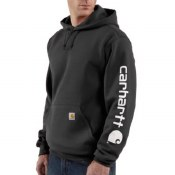 K288 Midweight Signature Sleeve Logo Hooded Sweatshirt