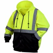 RSZH3210 HI VIS BLACK BOTTOM SWEATSHIRT