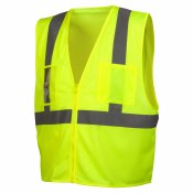RVZ2110CP HI VIS LIME SAFETY ECONOMY VEST