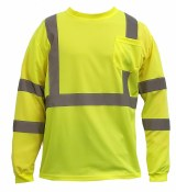 SB-C3LS CLASS 3 LONG SLEEVE HI VIS T-SHIRT