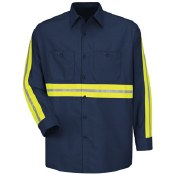 SC30EN Enhanced Visibility Cotton Work Shirt