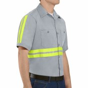 SC40EG Enhanced Visibility Cotton Work Shirt