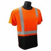 ST11B Hi-Viz Black Bottom T-Shirt with Max-Dri