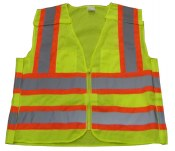 Vest52 High Visibility Class 2 4-Point Breakaway 2 Tone Vest