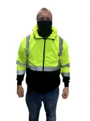 028019BR PULLOVER DOUBLE WEIGHT HOODIE WITH FACE MASK