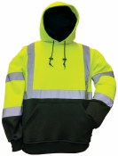 MWHVFU-01 HIGH VISIBILITY HOODED PULLOVER SWEATSHIRT