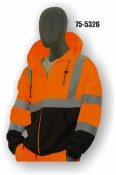 75-5326 Hi-Vis Hooded Zip-Front Sweatshirt